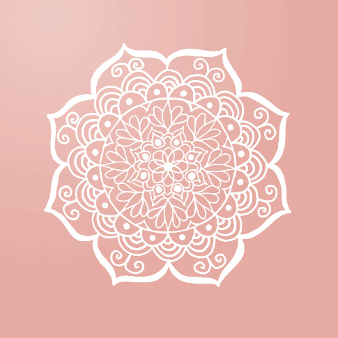 pink mandala flower drawing