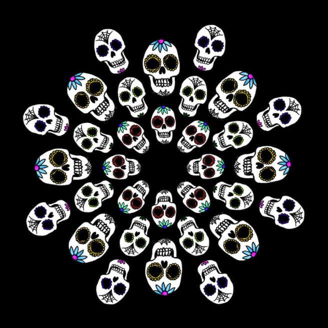 sugar skull halloween mandala