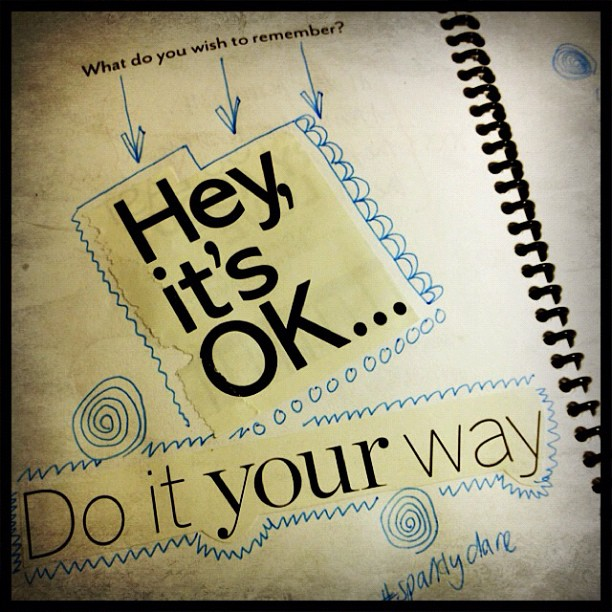 A wee reminder from the art journals