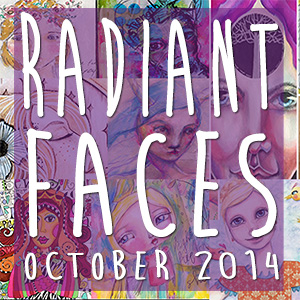 Let's Be Radiant Together (and learn how to create mixed media faces)