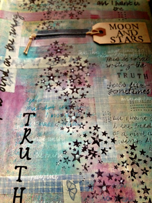 transformed art journal page