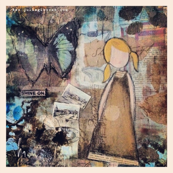 Shine on mixed media canvas