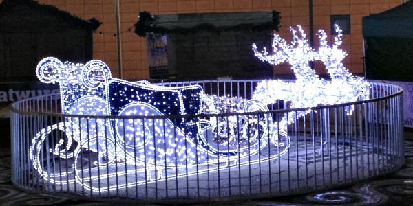 reindeer sleigh christmas lights