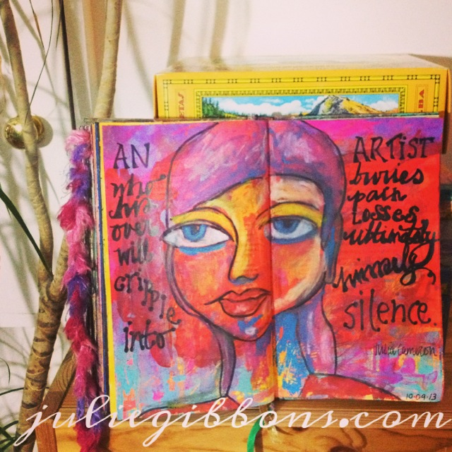 Oil pastel portrait with commentary : art journal video