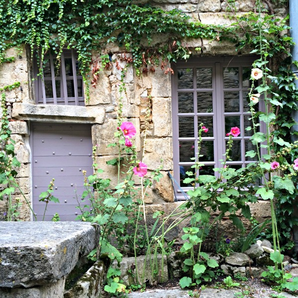 overgrown frontage medieval village france