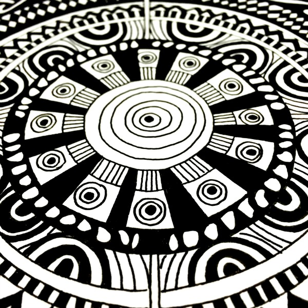 concentric circles mandala