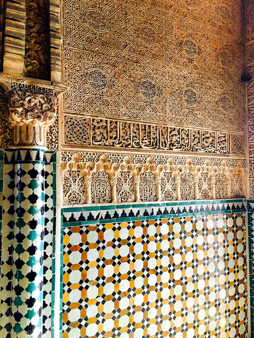 Wall Decoration Nazrid Palace Alhambra