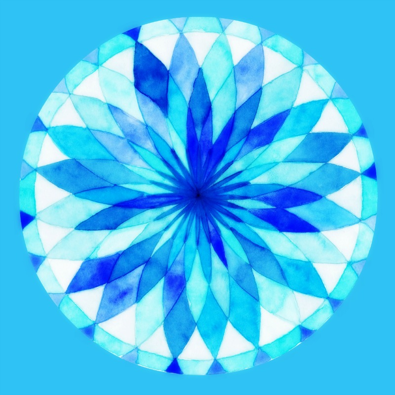 two dozen blue mandala Image