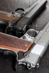 S&W Pro Series 9mm 1911 - Stock Stainless & Pete Single Custom, Ion Bond Black