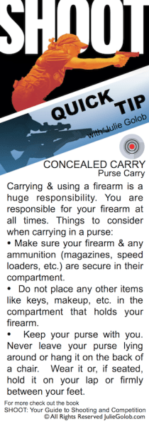 SHOOT Tip - Concealed Carry in a Purse