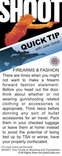 SHOOT Quick Tip - Firearms & Fashion