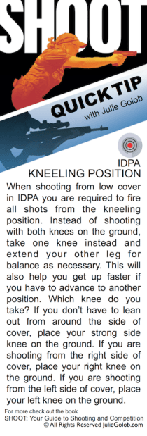 SHOOTing Tip - IDPA Kneeling