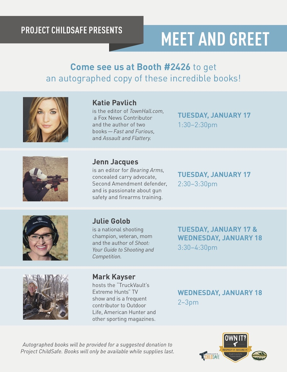 Project Childsafe Presents Meet & Greet with Authors at SHOT Show