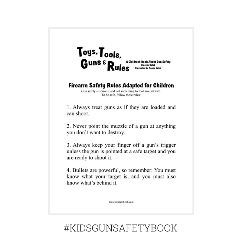 Firearm Safety Rules Adapted for Children kidsgunsafetybook.com
