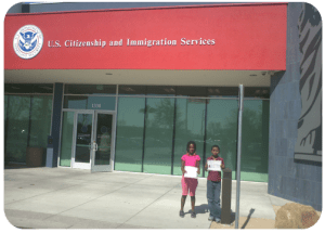 Kids get citizenship at USCIS