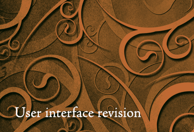 User interface revision