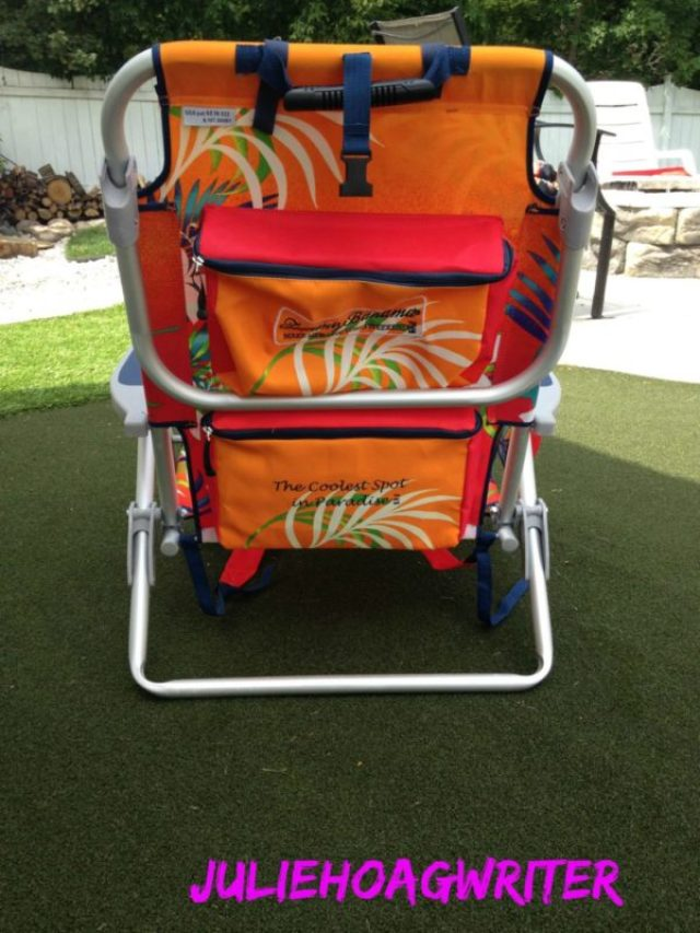 back of beach chair