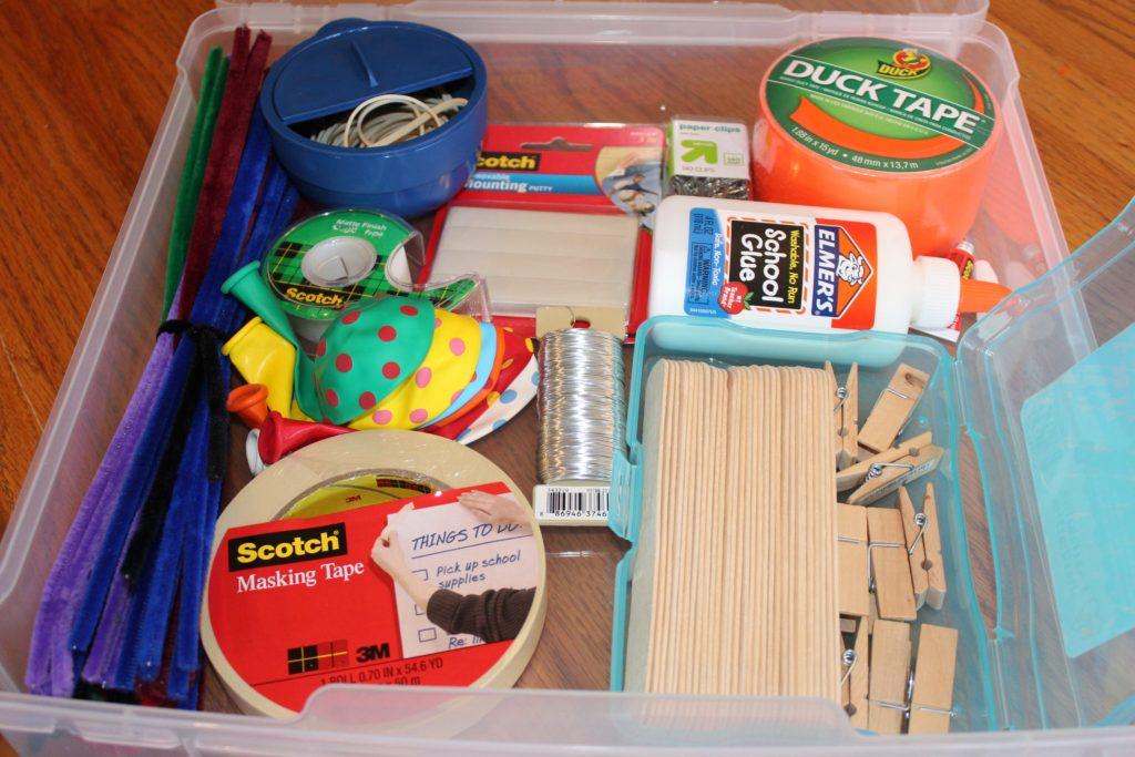 DIY Craft bin for boys