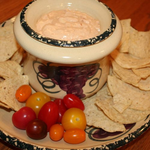 Easy Four Ingredient Mexican Hummus Dip