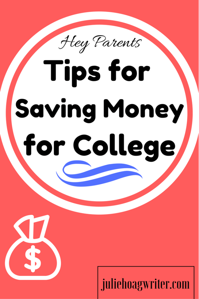 Tips for Saving Money for College. Easy tip for parents to help them save money when they can't right now.
