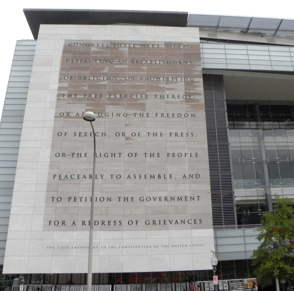 First Amendment on a building