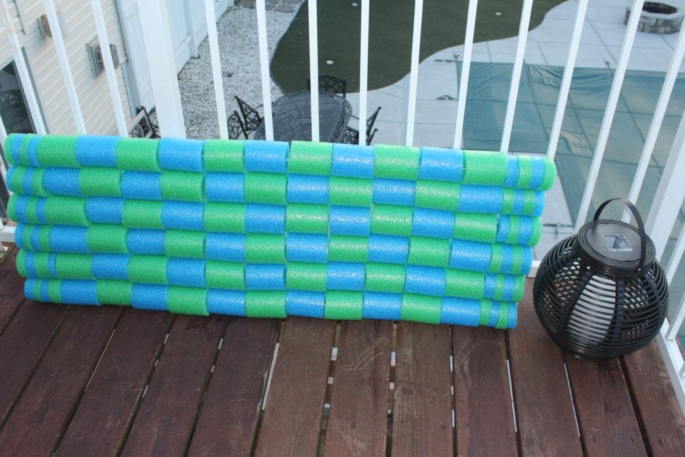 DIY Pool Noodle Float Raft