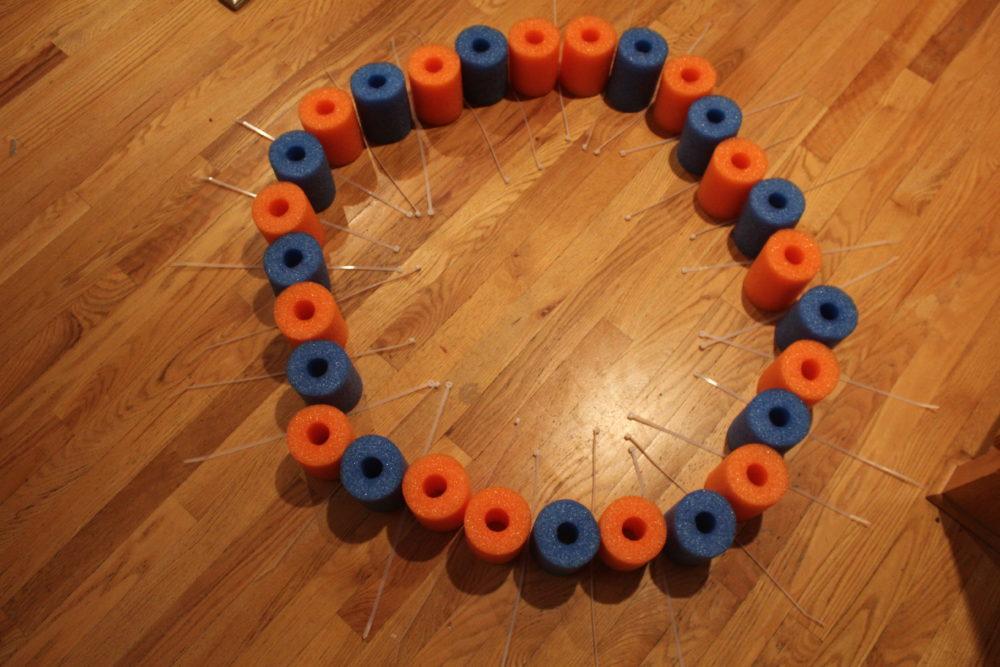 DIY Pool Noodle Float Ring