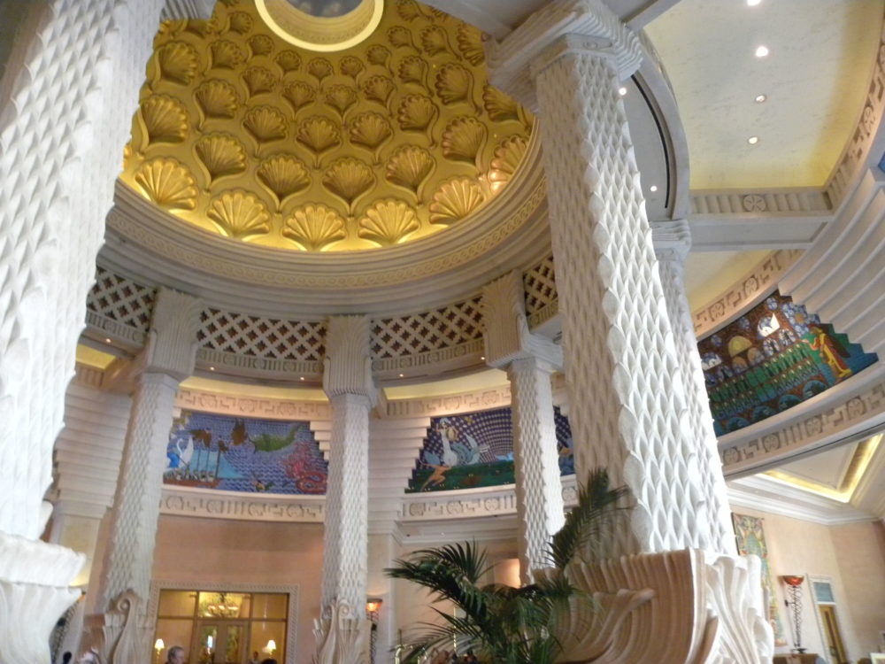 Lobby with murals at Atlantis