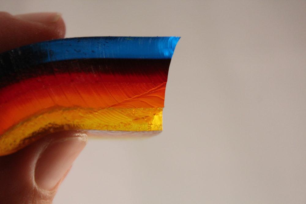 Closeup of Multi Layered Jello