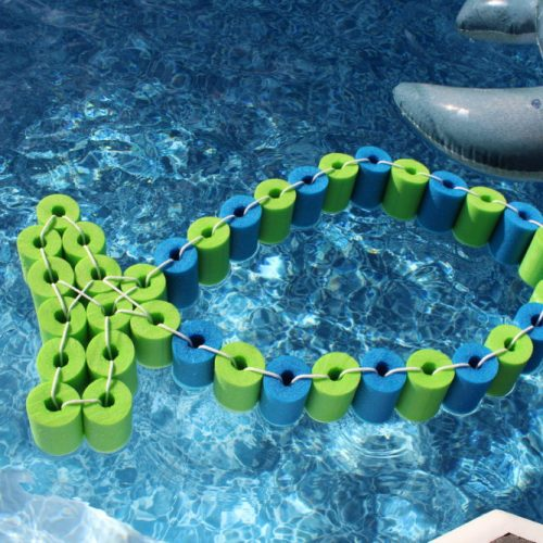 DIY Pool Noodle Fish Float With Headrest