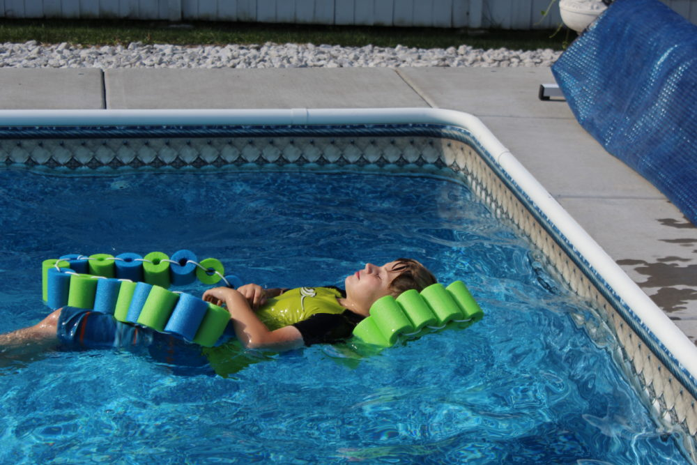 DIY Pool Noodle Fish Float with Headrest is a perfect relaxing pool float-DIY Pool Noodle Fish Float With Headrest-pool noodle ideas-swimming pools-inground pool-noodle crafts-pool noodles-pool ideas-pool toys-pool toys for kids-pool floats-pool floats for adults-swimming pools-swimming pool ideas-swimming pool backyard-pool play-pool fun for kids-pool fun ideas-swim floats kids-swim floats summer. @juliehoagwriter.com