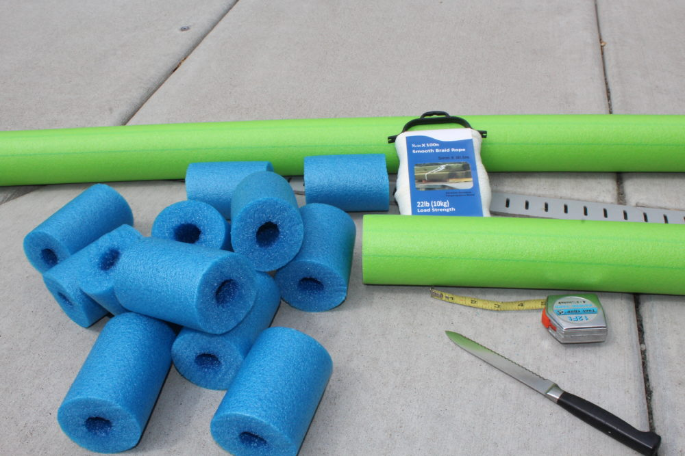 Supplies needed for the DIY Pool Noodle Fish Float with Headrest-pool noodle ideas-swimming pools-inground pool-noodle crafts-pool noodles-pool ideas-pool toys-pool toys for kids-pool floats-pool floats for adults-swimming pools-swimming pool ideas-swimming pool backyard-pool play-pool fun for kids-pool fun ideas-swim floats kids-swim floats summer. @juliehoagwriter.com
