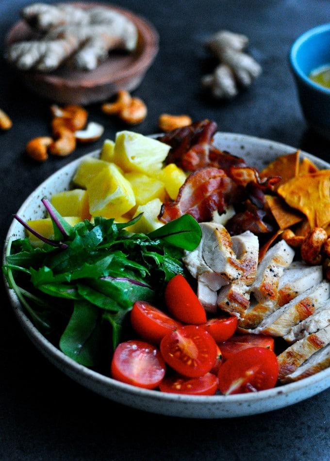 Salat med kylling og ananas | www.juliekarla.dk