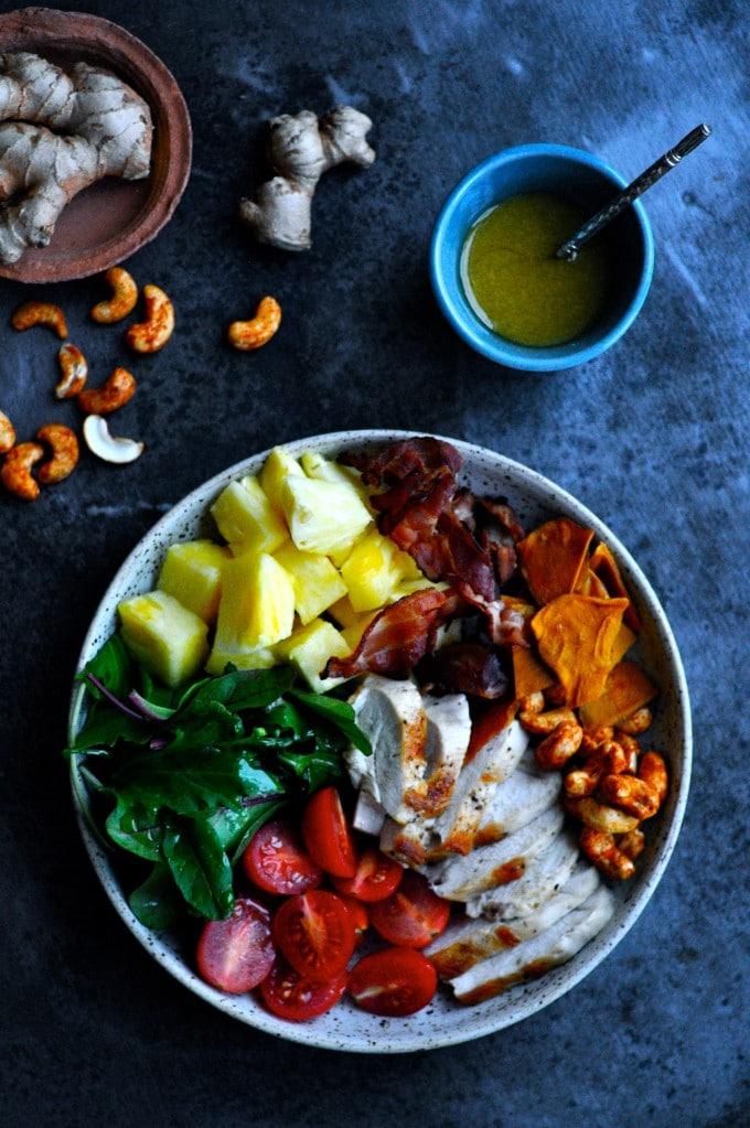 Salat med kylling og ingefær| www.juliekarla.dk