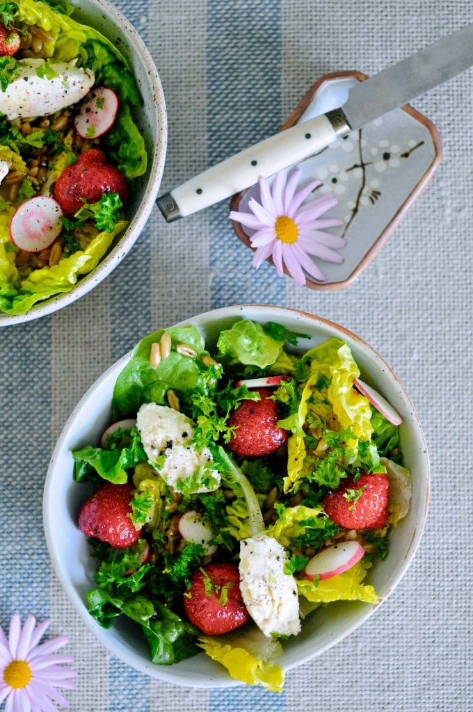 Hurtig salat til grill lavet af www.juliekarla.dk