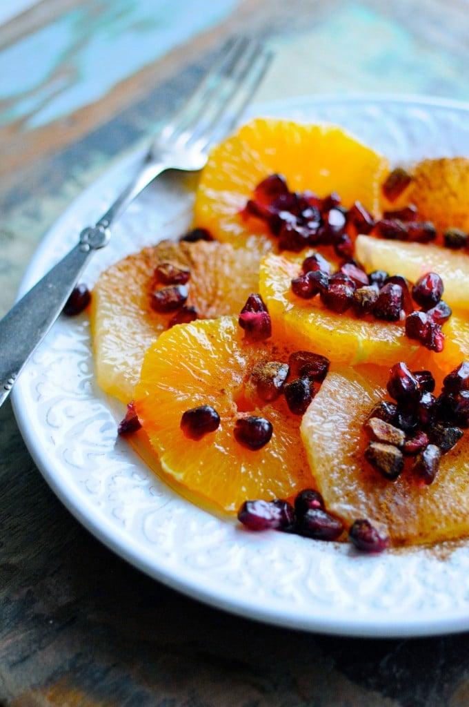 Frisk appelsinsalat til morgenmad | www.juliekarla.dk