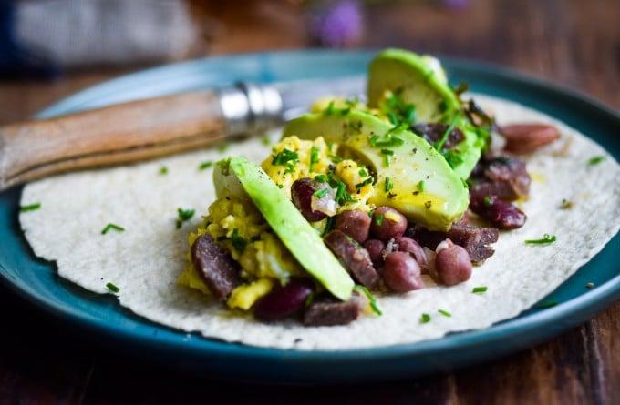 burrito opskrift med æg og bønner