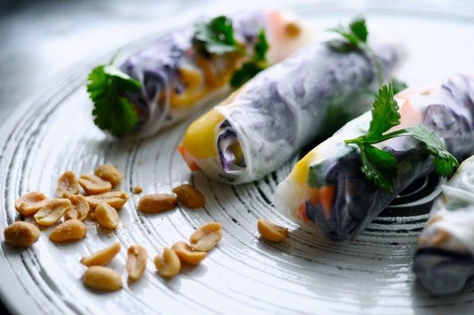 Vietnamesiske forårsruller med rispapir