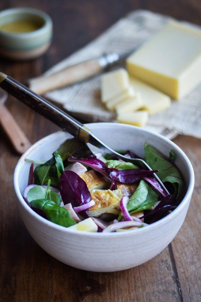 Salat med skinke opskrift