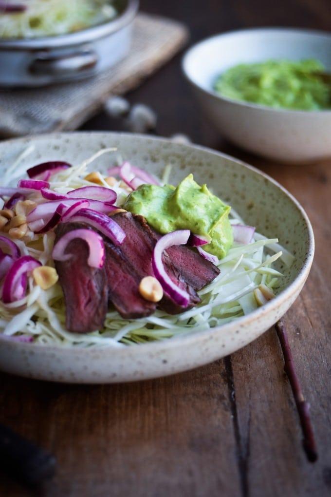 steak salat til aftensmad