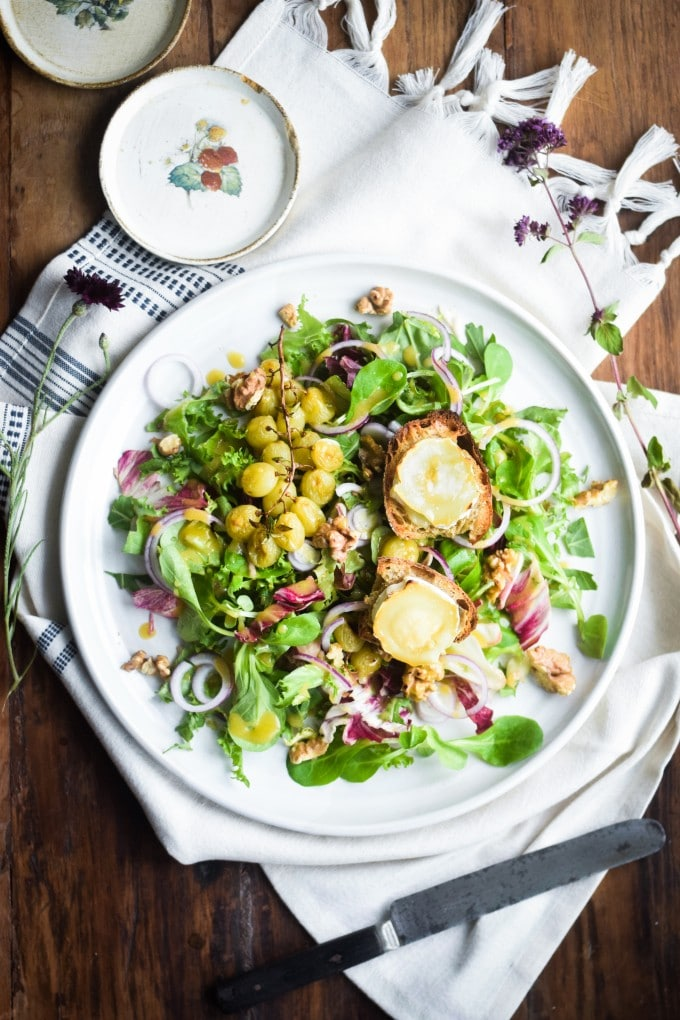 chevre chaud salat med gedeost