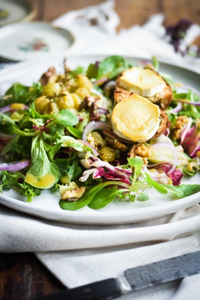 chevre chaud salat opskrift