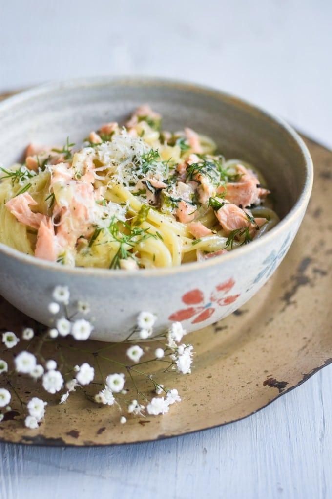 verdens bedste pasta med laks