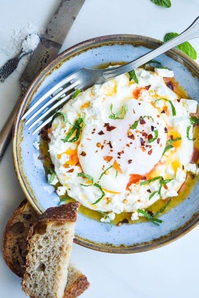 Turkish eggs opskrift