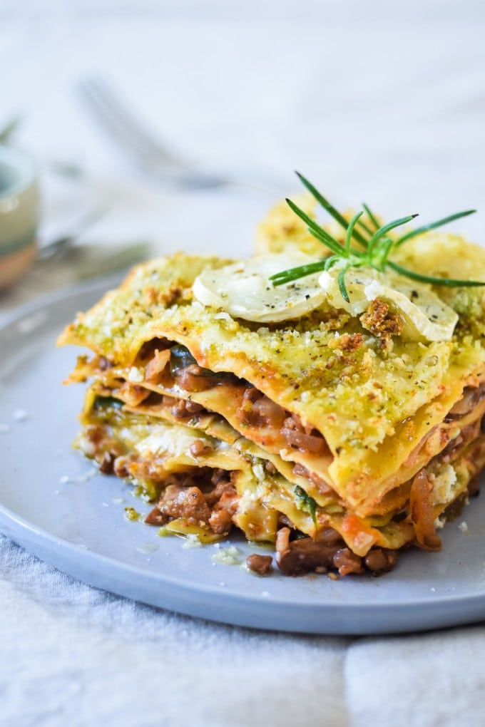 vegetar lasagne opskrift blog