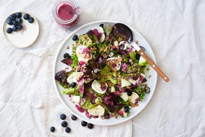 Opskrift på salat med blaabaer