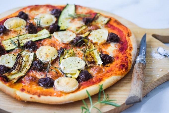 god opskrift på pizza med oksekød