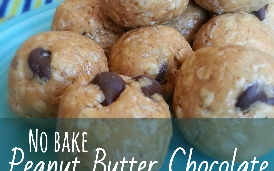No Bake Peanut Butter Chocolate Protein Bites