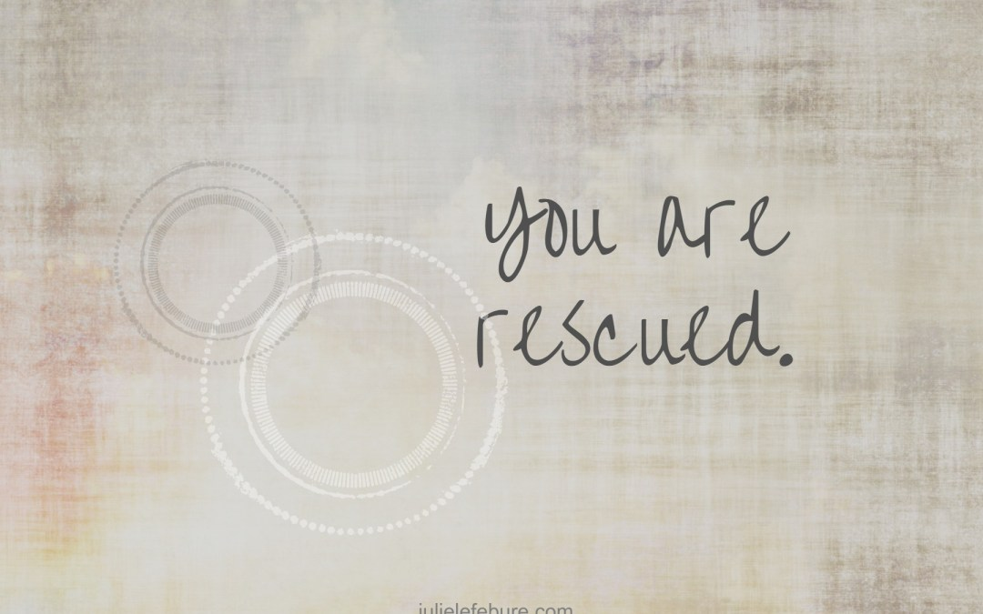 Friend, You Are Rescued