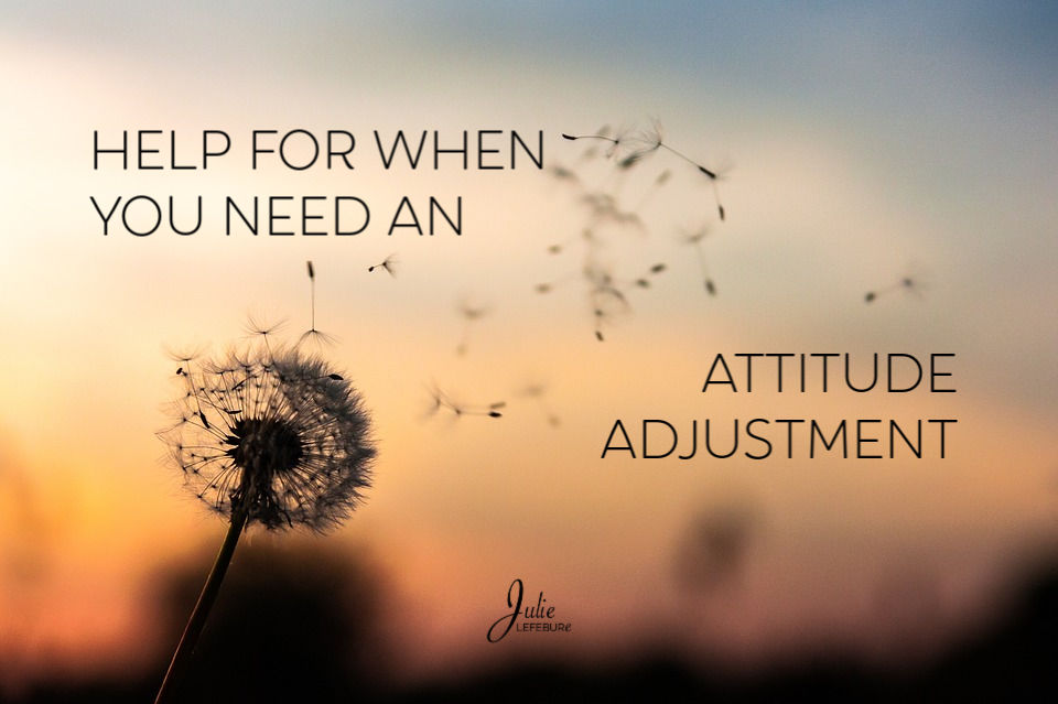 Help for when you need an attitude adjustment
